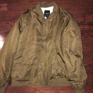 Forever 21 bomber jacket + fur inside
